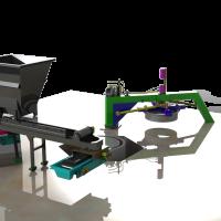 Hình ảnh máy được mô phỏng trên chương trình CAD